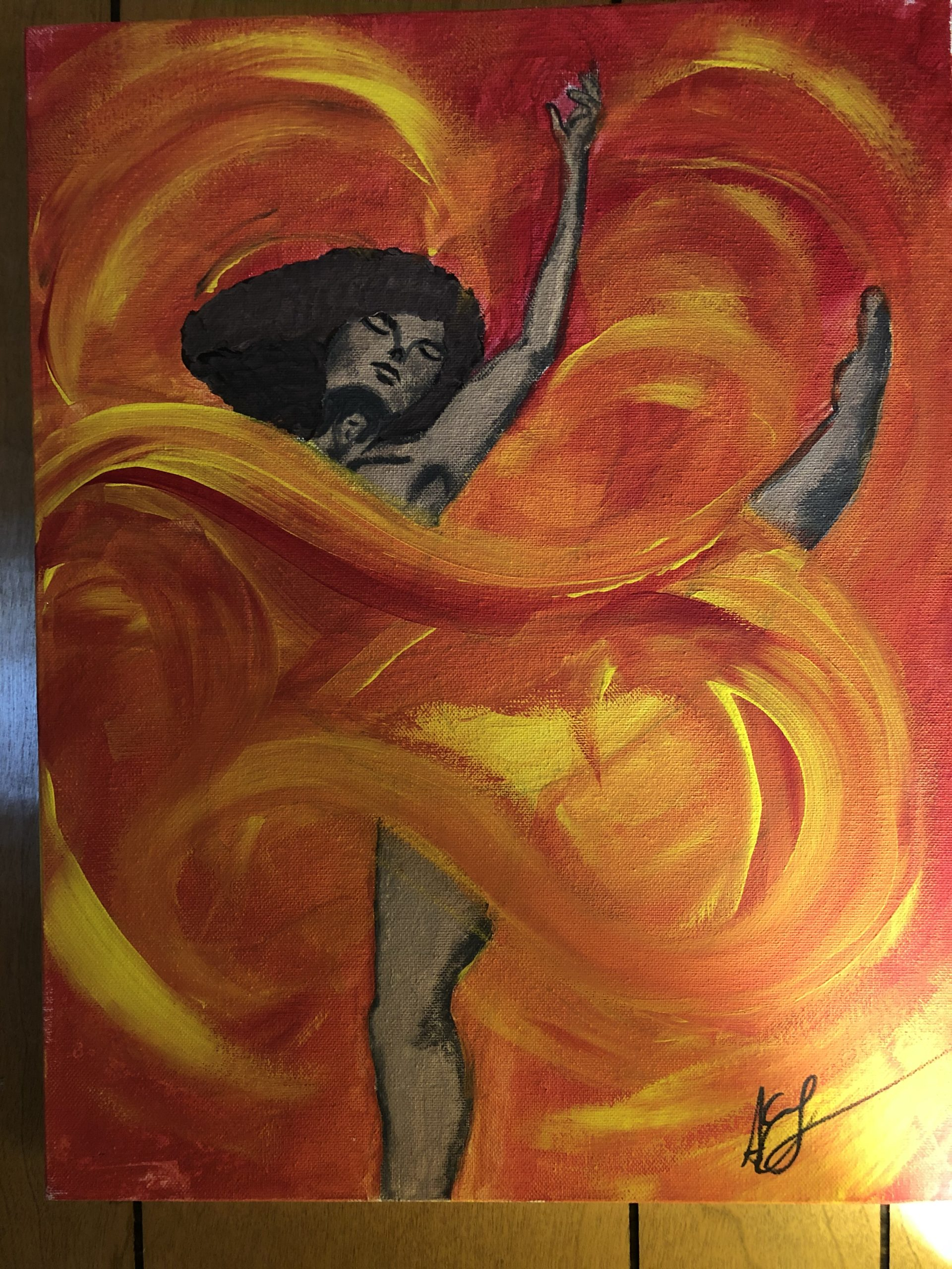 """Lady in the Flame"""